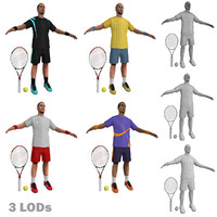 3d model tennis players