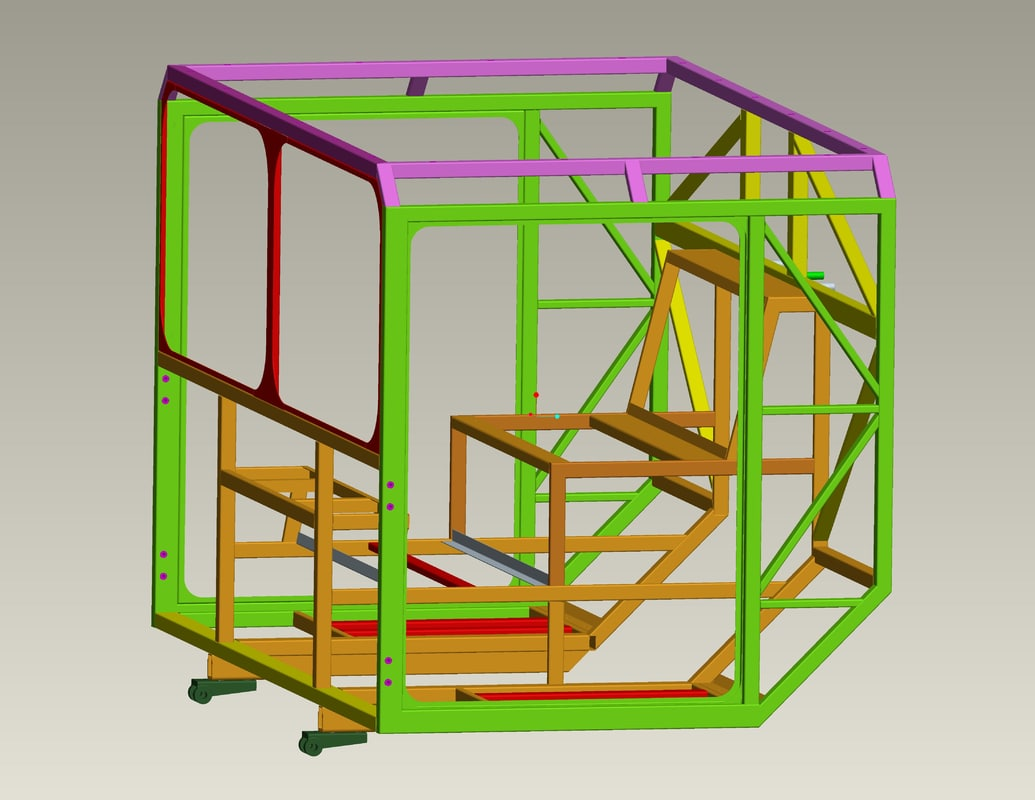 Maya metal frame cabin air for Steel frame cabin
