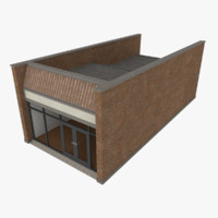 strip mall store unit 3d 3ds