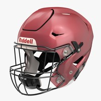 3d model riddel speedflex helmet red