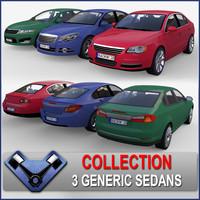 generic sedan 3d model