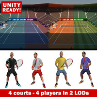 tennis pack games 3d model