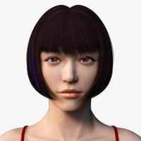 female asian girl body 3d model
