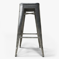 realistic metal tolix bar stool 3d max