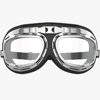 3d motorcycle pilot glasses model