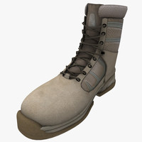3d model of military boot