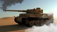 3d pzkpfw vi tiger tank model