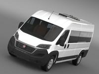 3d fiat ducato scuolabus 2014 model