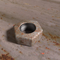 3d rusty nut