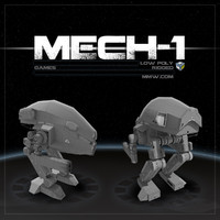 Mech 1 Low Poly 3DS MAX 2011