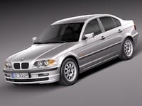 sedan bmw 1998 3d model