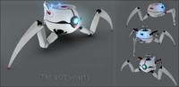 tri-bot rigging turret 3d model