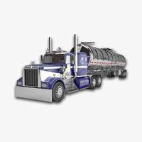Kenworth W900 A with Fuel Tanker