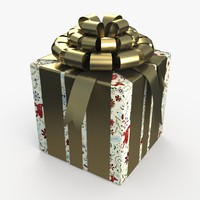 3ds christmas gift present box