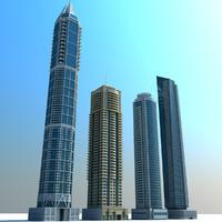 abu towers 01 marina 3d model