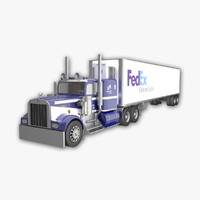 w900 semi-trailer reefer 3d max