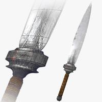 3dsmax fantasy medieval dagger