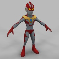 humanoid character ultraseven 3d model