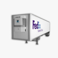 3d model semi trailer reefer