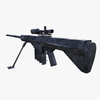 3d model of m-82 sniper rifle