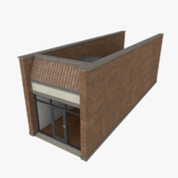 3d strip mall store unit model