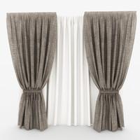 3d curtain 03 model
