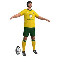 rugby player 2 3d model