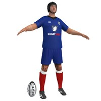 3d model of rugby player