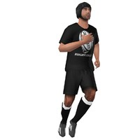 3d rigged rugby player