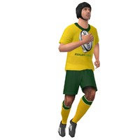rigged rugby player 2 3d model