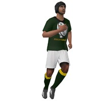 rigged rugby player 3d max