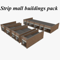Interior/Exterior strip mall pack with textures