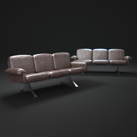de-sede-desede-lounge-sofa-ds-31 3d model