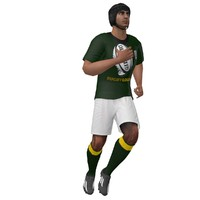 rigged rugby player 3d model