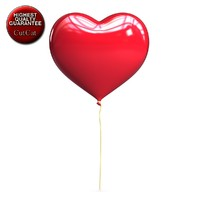 max love heart shaped balloon