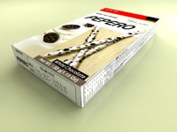 3d lotte pepero white cookies model