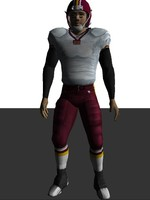 3ds max american football player