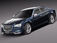 2015 chrysler 300 3d model