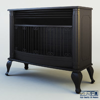 mirage fireplace 3d model