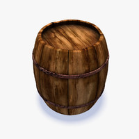 3d cartoon barrel model