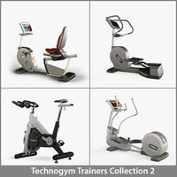 3d professional technogym 2 model