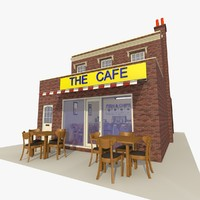 cafe restaurant 2 exterior 3d model