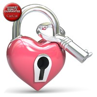 heart pad lock fbx