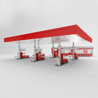 c4d petrol station gas