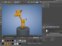 Cartoon Giraffe Rigged
