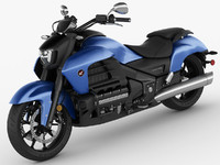3d honda valkyrie gold wing model