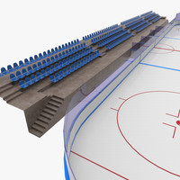 3d ice hockey rink model