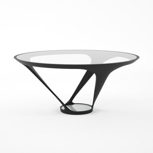 Roche bobois ora ito table 3d 3ds for Table ora ito