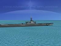 3d subs balao class submarines model