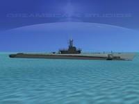 subs balao class submarines 3d 3dm